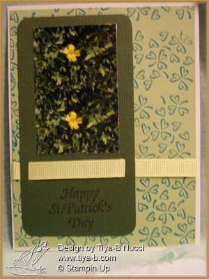 First St Patric Day card