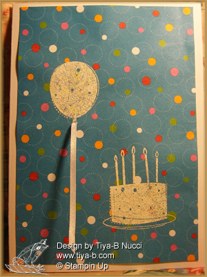 balloon and cake