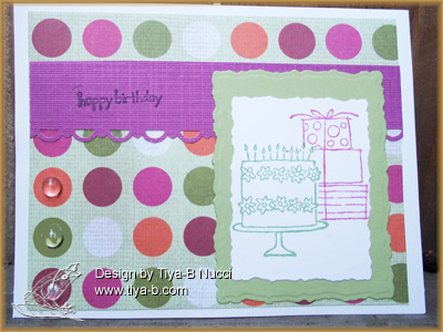 Its Ashley's birthday ! The set is Stampin' up, i masked the cake for the