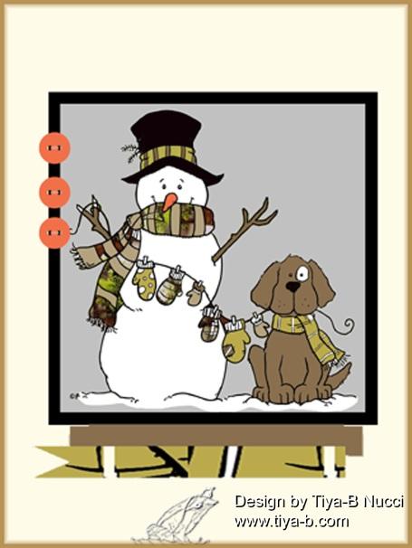 snowman&dogw