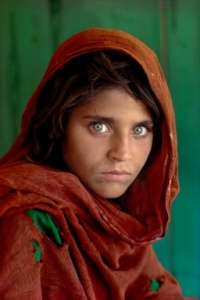 Afghan Girl, at Nasir Bagh refugee camp near Peshawar, Pakistan  1984