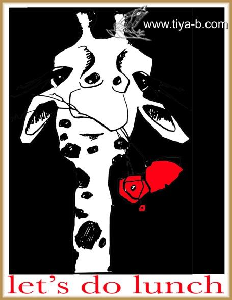 b&w-giraffe