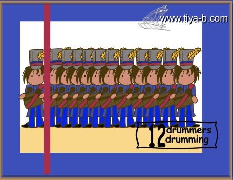 12-drumers