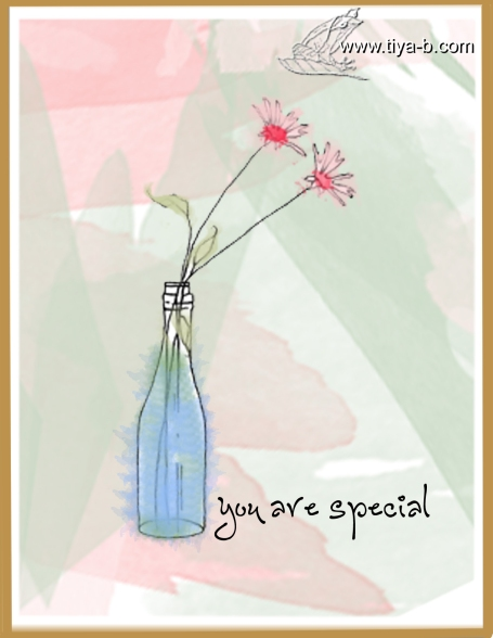 2-daisies-in-bottle--pink-and-grteen