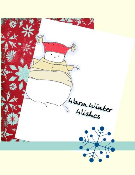 snowman-snowflakes