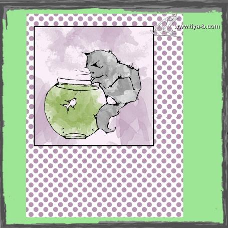 cat-&-bowl-&-dots