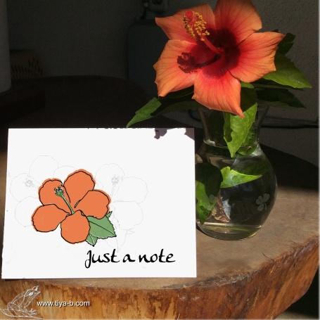 hibicus-note-orange